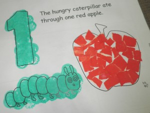 The Very Hungry Caterpillar colouring page