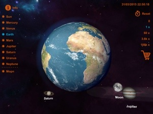 Solar System 3D iPad app